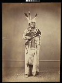 view Ihanktonwan Nakota delegate, Washington, D.C. digital asset: [P10148] Ihanktonwan Nakota (Yankton Sioux) delegate Wa-jin-ka (Zin-tka-chi-stin; Little Bird)