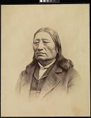 view Sicangu Lakota (Brulé Sioux) delegate, Washington, D.C. digital asset: [P10136] Sicangu Lakota (Brulé Sioux) delegate and Head Chief Ma-za-o-ya-ti (Iron Nation)