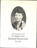 view Peratrovich family papers digital asset: Biographical information, awards, and photocopies of photographs