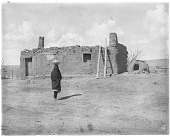 view Fred Harvey Company collection of Carl Moon Southwest photographs digital asset: Zuni Dwelling