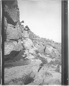 view Hopi Women Descending from Mesa digital asset: Hopi Women Descending from Mesa