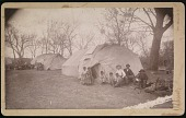 view Unidentified men and children (Plains) digital asset: Unidentified men and children (Plains)