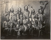 view Little Wound and Chiefs, Ogallala Sioux, 346 digital asset: Little Wound and Chiefs, Ogallala Sioux, 346