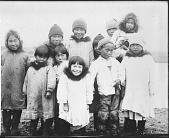 view Joseph-Fidèle Bernard photographs from Alaska digital asset: Inupiaq (Alaskan Inupiat Eskimo) Children