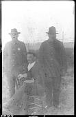 view John H. Waugh with the Wahpetonwan Dakota and Turtle Mountain Chippewa police captains digital asset: John H. Waugh with the Wahpetonwan Dakota and Turtle Mountain Chippewa police captains