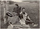 view John White Feather/We-bu-ju-o-no-kwe and Wife/Na-Wa-Que Go-Kwe (Lake Superior Chippewa) digital asset: John White Feather/We-bu-ju-o-no-kwe and Wife/Na-Wa-Que Go-Kwe (Lake Superior Chippewa)