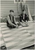 view Charles Keosatok and wife Qua-tau-che (Sac and Fox (Sauk & Fox)) with rush mats digital asset: Charles Keosatok and wife Qua-tau-che (Sac and Fox (Sauk & Fox)) with rush mats