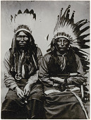 view Portrait photograph of two unidentified Sioux men digital asset: Portrait photograph of two unidentified Sioux men