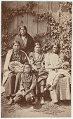 view Unidentified group of Sioux women and children digital asset: Unidentified group of Sioux women and children