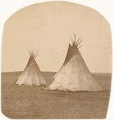 view Oswald Schraubstadter collection of Fort Sill photographs digital asset: Apache encampment