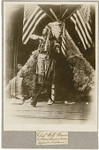 view Photographs of Chief Wolf Wanna digital asset: Publicity photographic portrait of Chief Wolf Wanna