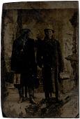 view Tintype of  Jim Ohneshnabia and John Sanko (Potawatomi) digital asset: Tintype of  Jim Ohneshnabia and John Sanko (Potawatomi)