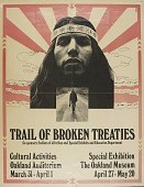 view 2017.0048- Trail of Broken Treaties protest march poster digital asset: 2017.0048- Trail of Broken Treaties protest march poster