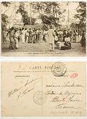view 75. Congo Brazzavile: Un Tam-Tam; jeu des bâtons digital asset: 75. Congo Brazzavile: Un Tam-Tam; jeu des bâtons