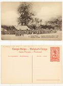 view 112. Congo Belge Inspection de la force publique à Irebu digital asset: 112. Congo Belge Inspection de la force publique à Irebu