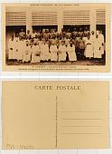 view 20. Dahomey Séminaire de St-Gall, à Ouidah; Personnel enseignant et élèves du petit et du grand séminaire (20 octobre 1930) digital asset: 20. Dahomey Séminaire de St-Gall, à Ouidah; Personnel enseignant et élèves du petit et du grand séminaire (20 octobre 1930)