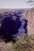 view A bridge across the Zambezi River as seen from the path to Victoria Falls, Zimbabwe digital asset: A bridge across the Zambezi River as seen from the path to Victoria Falls, Zimbabwe