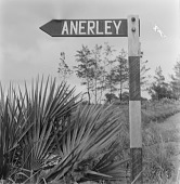 view Road Sign to Anerley, Natal, South Africa digital asset: Road Sign to Anerley, Natal, South Africa