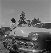 view Alan Paton's Son With Automobile and Boy, Natal, South Africa digital asset: Alan Paton's Son With Automobile and Boy