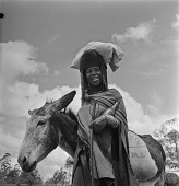 view Xhosa Woman With Her Donkey, Transkei digital asset: Xhosa Woman With Her Donkey, Transkei