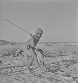 view San boy with spear, Kalahari Desert, Botswana digital asset: San boy with spear, Kalahari Desert, Botswana