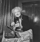view Noel Coward's mother knitting, London (England) digital asset: Noel Coward's mother knitting, London (England)