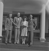 view Constance Stuart Larrabee with Noel Coward and Norman Hackforth, Pretoria (South Africa) digital asset: Constance Stuart Larrabee with Noel Coward and Norman Hackforth, Pretoria (South Africa)