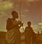 view Swazi woman with bow and arrow, Nhlangano (Swaziland) digital asset: Swazi woman with bow and arrow, Nhlangano (Swaziland)