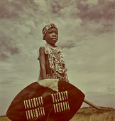 view Zulu child with weaponry, Natal (South Africa) digital asset: Zulu child with weaponry, Natal (South Africa)