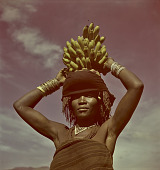 view Xhosa woman holding bananas, Transkei (South Africa) digital asset: Xhosa woman holding bananas, Transkei (South Africa)