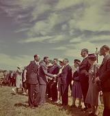 view King George VI shaking hands with dignitaries, Nhlangano (Swaziland) digital asset: King George VI shaking hands with dignitaries, Nhlangano (Swaziland)