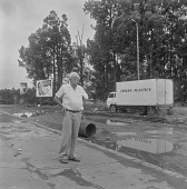 view Alan Paton on the roadside, Ixopo (South Africa) digital asset: Alan Paton on the roadside, Ixopo (South Africa)