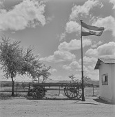 view Wagon parked in front of building, Little Karoo (South Africa) digital asset: Wagon parked in front of building, Little Karoo (South Africa)