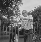 view Constance Stuart Larrabee Collection digital asset: Man with dog, Johannesburg (South Africa)