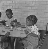 view Children playing games in school, Soweto (South Africa) digital asset: Children playing games in school, Soweto (South Africa)