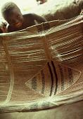 view Hammock of Pa Hamidu Kamara, the Speaker of Wara Wara Bafodea Chiefdom, Bafodea Town, Sierra Leone digital asset: Hammock of Pa Hamidu Kamara, the Speaker of Wara Wara Bafodea Chiefdom, Bafodea Town, Sierra Leone