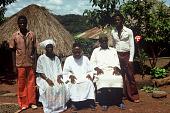 view Left to right, Paul Hamidu Mamba Mansaray, Sori Mansaray, Pa Salifu Mansaray, Mamba Kamara, Yeredi Mansaray, Kamagbembe village, Sierra Leone digital asset: Left to right, Paul Hamidu Mamba Mansaray, Sori Mansaray, Pa Salifu Mansaray, Mamba Kamara, Yeredi Mansaray, Kamagbembe village, Sierra Leone