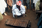 view Yele Seku, a Mandingo musician, playing xylophone, Telia Village, Sierra Leone digital asset: Yele Seku, a Mandingo musician, playing xylophone, Telia Village, Sierra Leone