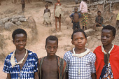 view Four Limba boys, three of them will take part in initiation rites, Kamabonsi Village, Sierra Leone digital asset: Four Limba boys, three of them will take part in initiation rites, Kamabonsi Village, Sierra Leone