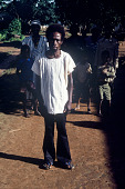 view Pa Brema Kamara, the diviner from Fadagu Chiefdom, wearing Muslim dress called tuntola, Bafodea Town, Sierra Leone digital asset: Pa Brema Kamara, the diviner from Fadagu Chiefdom, wearing Muslim dress called tuntola, Bafodea Town, Sierra Leone