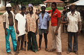 view Salifu Mansaray, Pari, and other young men, Bafodea Town, Sierra Leone digital asset: Salifu Mansaray, Pari, and other young men, Bafodea Town, Sierra Leone