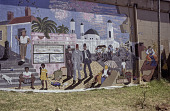 view Community Arts Project mural commemorating District 6 razing by government when people were scattered to townships Cape Town, South Africa digital asset: Community Arts Project mural commemorating District 6 razing by government when people were scattered to townships Cape Town, South Africa