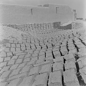 view Drying mud bricks in Bamako, Mali digital asset: Drying mud bricks in Bamako, Mali