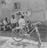 view Barber cutting hair in Bamako, Mali digital asset: Barber cutting hair in Bamako, Mali