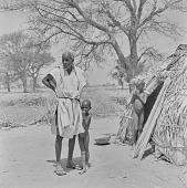 view Peul (Fula) man and children at an encampment near Mopti, Mali digital asset: Peul (Fula) man and children at an encampment near Mopti, Mali