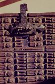 view A carved Dogon granary door, Mali digital asset: A carved Dogon granary door, Mali