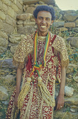 view Selassi Gundifiru wearing a decorative costume, Ethiopia digital asset: Selassi Gundifiru wearing a decorative costume, Ethiopia
