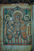 view A painted icon depicting the Virgin Mary and Child, Ethiopia digital asset: A painted icon depicting the Virgin Mary and Child, Ethiopia
