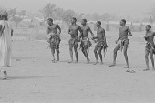 view Kamberi men dancing at a harvest celebration, Nigeria digital asset: Kamberi men dancing at a harvest celebration, Nigeria
