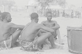 view Kamberi dancers resting during a harvest celebration, Nigeria digital asset: Kamberi dancers resting during a harvest celebration, Nigeria